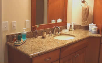 This Vanity Is Giallo Veneziano Granite Which Is Quarried In