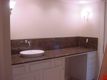This Chapel Hill Master Bath Vanity Features A Vessel Sink