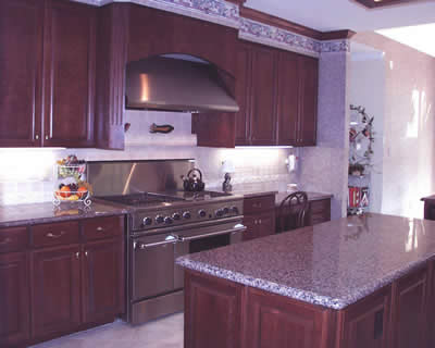 Violetta Granite Was Used For The Counters In This Kitchen And