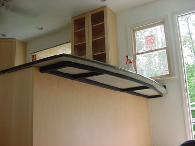 Granite countertops and kitchens in durham and raleigh for How to support granite countertop overhang